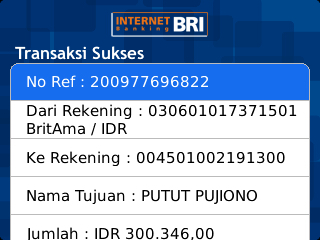Cara Transfer Sesama Bri Via Internet Banking Bri Mobile Blog